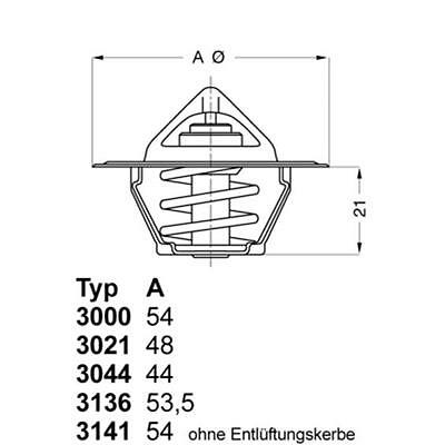 WAHLER 3141.87D Thermostat VW