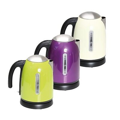 Quest Leisure Stainless Steel Cordless Low Wattage Kettle for Camping Caravan