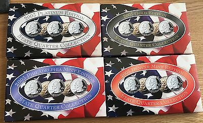 USA 2003 State Quarter Collection Including Platinum And Gold Collection.