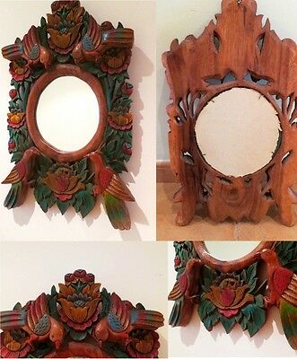 Espejo antiguo madera tallada vintage mirror black forest style carved wood