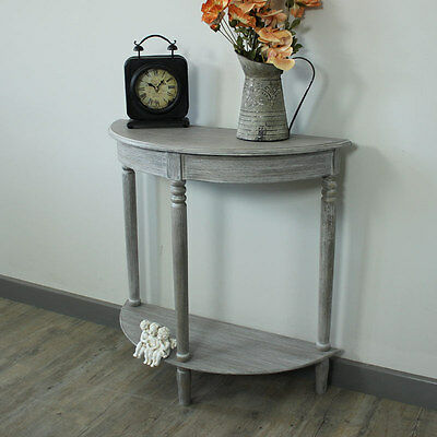washed grey slate livingroom console room table shabby chic french vintage hall