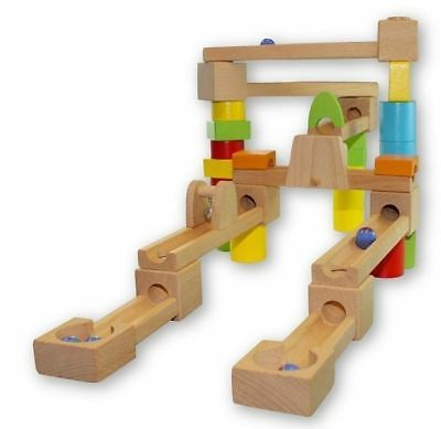 Discoveroo - Marble Run 40pc Set Educational Wooden Toy