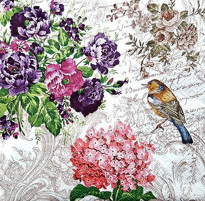 4 Lunch Paper Napkins for Decoupage Party Table Craft Vintage Sullmania
