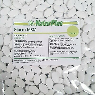 Glucosamine Chondroitin MSM and Vitamin C tablets - 90 - 180 - 365 by NaturPlus