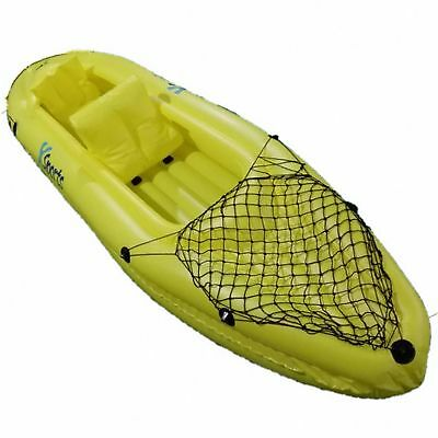 2 Man Person Inflatable Canoe Raft Kayak Dinghy Rubber Boat Set With Paddles