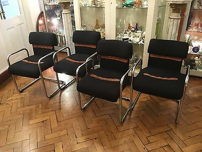 Retro Set Of Four Chairs By Guido Faleschini For House Of Hermes Circa 1970