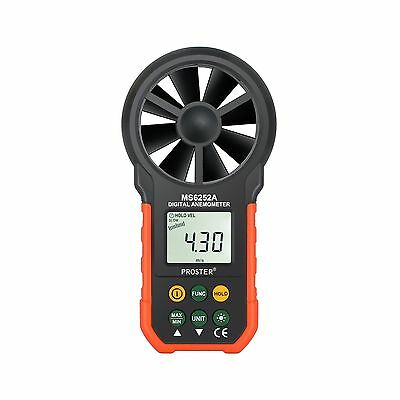Proster Anemometer Portable Wind Speed Meter Gauge Air Volume Measuring Meter...