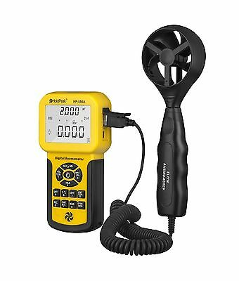 HOLDPEAK HP-856A Digital Anemometer / Thermometer for Air Velocity Air Flow T...