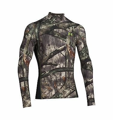 Under Armour Men's UA ColdGear Infrared Scent Control Fitted Camo Mock - NWT