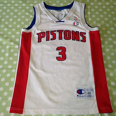 Basketball Shirt Nba Champion Detroit Pistons - Wallace #3 Xs Jersey