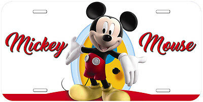 Mickey Mouse Aluminum Novelty Car Auto License Plate