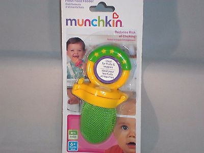 Munchkin Fresh Food Feeder Reduces Choking Risk Ages 6+ Months Green       #T3-3