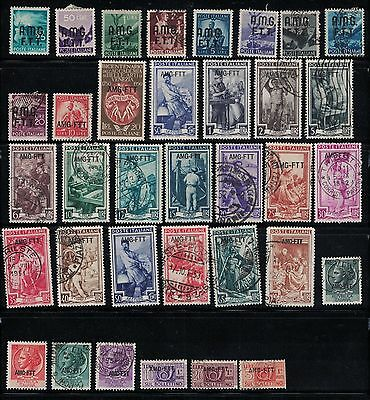 Early Trieste  Lot Of 35  MH & Used. Zone A   #02 TRIESTE35