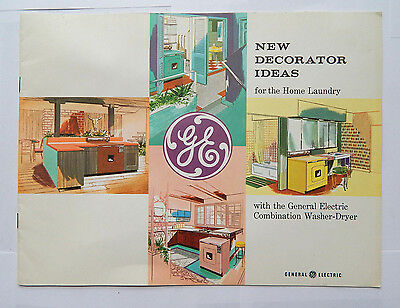 General Electric GE Home Laundry Decorator Ideas Illustrated Catalog (ca.1957)