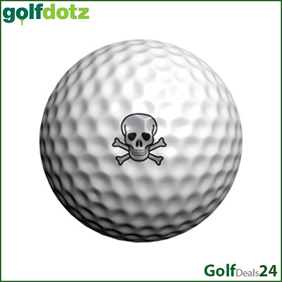golfdotz® BALLTATTOOS - Motiv SKULLMANIA (Inhalt: 32 Sticker)