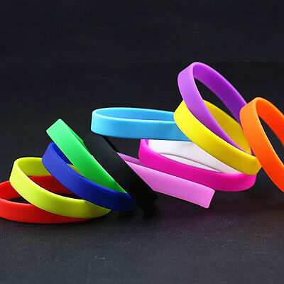 Sports Children's Adult Silicone Assorted Colours Band Wristbands Wholesale Lots