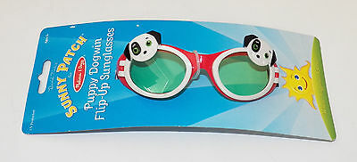 NEW Puppy Dogwin Flip-Up Sunglasses Toddler David Kirk Melissa & Doug UV Protect