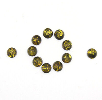 Baltic amber green cabochon cab 6mm natural doublet best quality