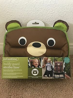 Infantino Buddy Guard Stroller Liner Padded Bear Brown