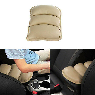 Car SUV Armrest Arm Rest Center Console Pad Cover Cushion Seat Box Mat Beige