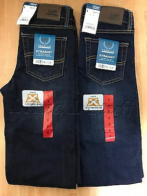 Lee Boy's Premium Select Straight Fit Jeans With Adjustable Waistband NEW