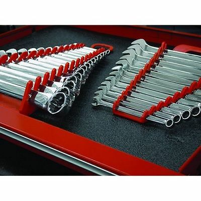 Pair of Ernst Manufacturing 5088 Red + 5089 Red GRIPPER 15 Wrench Organizers