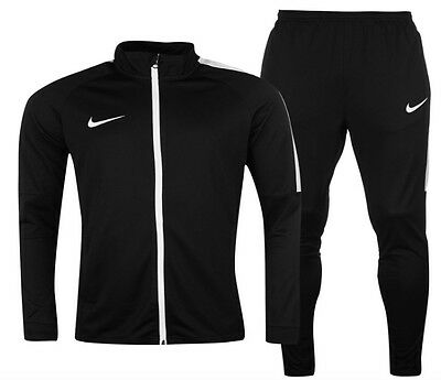 Nike Sports Football Tracksuit jacket and pants Black-white all sizes new