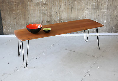 60er TEAK COUCHTISCH MID-CENTURY 60 COFFEE TABLE VINTAGE SOFA TABLE