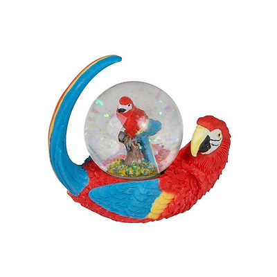 New Home Decor Resin Small Snow Dome Parrot 8.3X4.5X7.8Cm