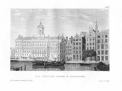 1840 - Amsterdam Holland engraving Original Stahlstich engraving