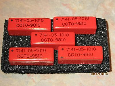 (5) Coto 7141-05-1010 Relays, Reed, Spdt, 250Ma, 5V,thru-Hole, Relay Processing
