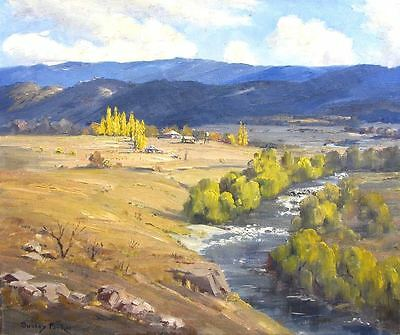 Beautiful Original Landscape Oil Painting Mountains In Summer By Dudley Parker