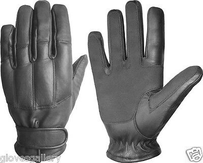 Police Security Tactical Sand SPECTRA Cut Resistant Black Color Leather Gloves