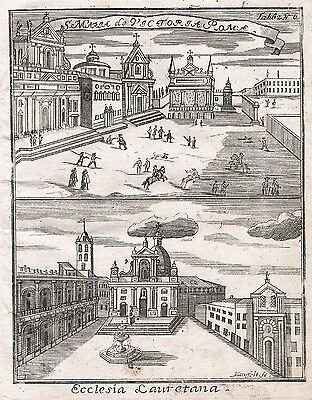 1730 - Roma Rom Rome view incisione Kupferstich engraving