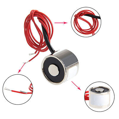 12V Metal Electric Lifting Magnet Electromagnet Solenoid Lift Holding M3 P20/15