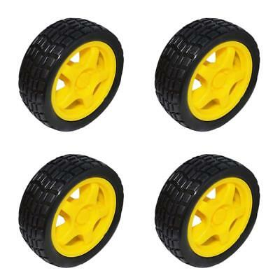 4 x Smart Robot Car Plastic Tire Tyre Wheel Set For Arduino DIY Wheel Toy