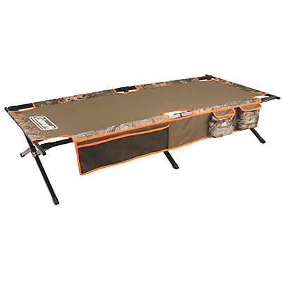 Trailhead II Cot Coleman Extra Wide Design Strong Folding Steel with Side Pocket