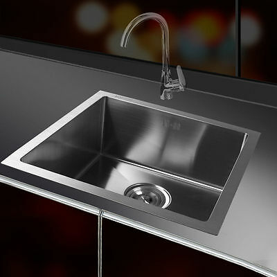 Square Kitchen Sink Single Handmade Stainless Steel Laundry Sink Waste Strainer
