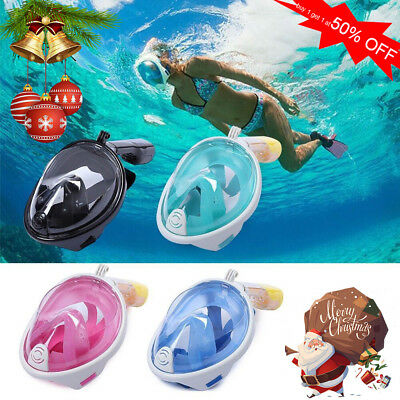 Snorkel Goggles Diving Mask for GoPro Scuba Swimming Face Glasses Mount Headband