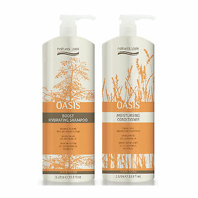 Natural Look Hair Food OASIS Hydrating Shampoo 1L + Moisturising Conditioner 1L