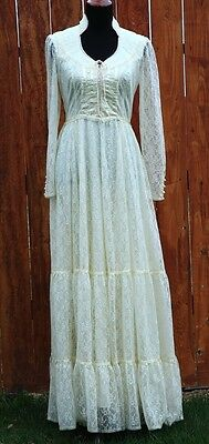 Vintage GUNNE SAX Romantic Renaissance Bridal Collection Wedding Dress Boho 12
