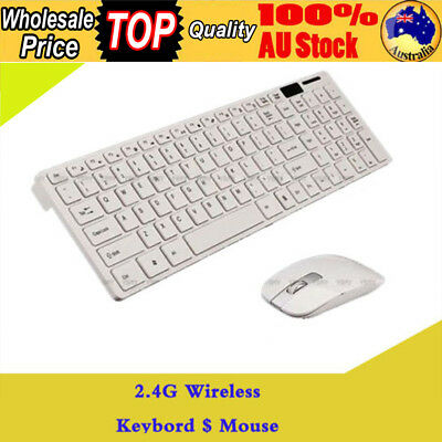 2.4G Wireless Keyboard and Optical Mouse USB Receiver Set For Windows White HOT