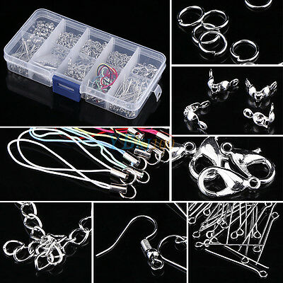 Jewelry Making Tools Head Pins Chain Beads Handmade DIY Accessories w/ Box xx