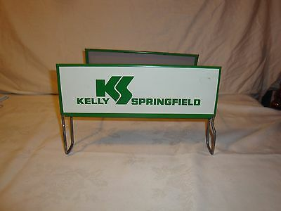 Kelly Springfield Tire Display Stand Sign 1970's Vintage Advertising