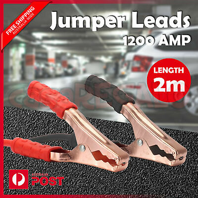 Booster Cable Jumper Lead Surge Protected Jump Car Heavy Duty 1200AMP