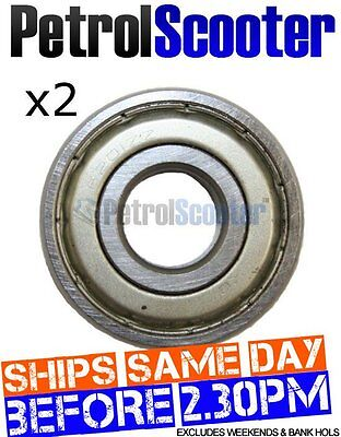 2 x Front Wheel Bearing 6201ZZ Chinese Import Scooter 49cc 50cc Chinese Scooter