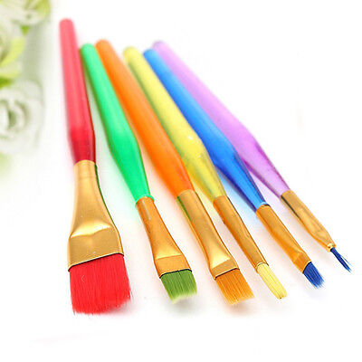 Cake Paint Brush Painting Dusting Sugarcraft Cupcake Baking Tool Decoration 6Pcs