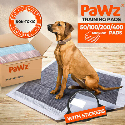 PaWz 1/2/3/400pc 60x60cm Puppy Pet Dog Indoor Cat Toilet Training Pads Absorbent