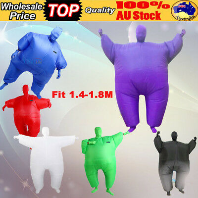 Fan Operate Inflatable Fancy Chub Fat Masked Suit Costume Party Festival Cosplay