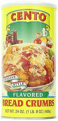 Cento Bread Crumbs, Flavored, 24 Ounce Pack of 12